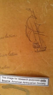 small sketch of a sailing ship